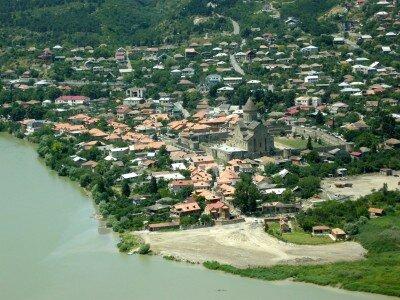 Mtscheta ze wzgórza Jvari