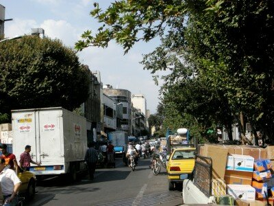 Ruch uliczny w Teheranie