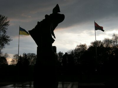Pomnik Bandery w Tarnopolu
