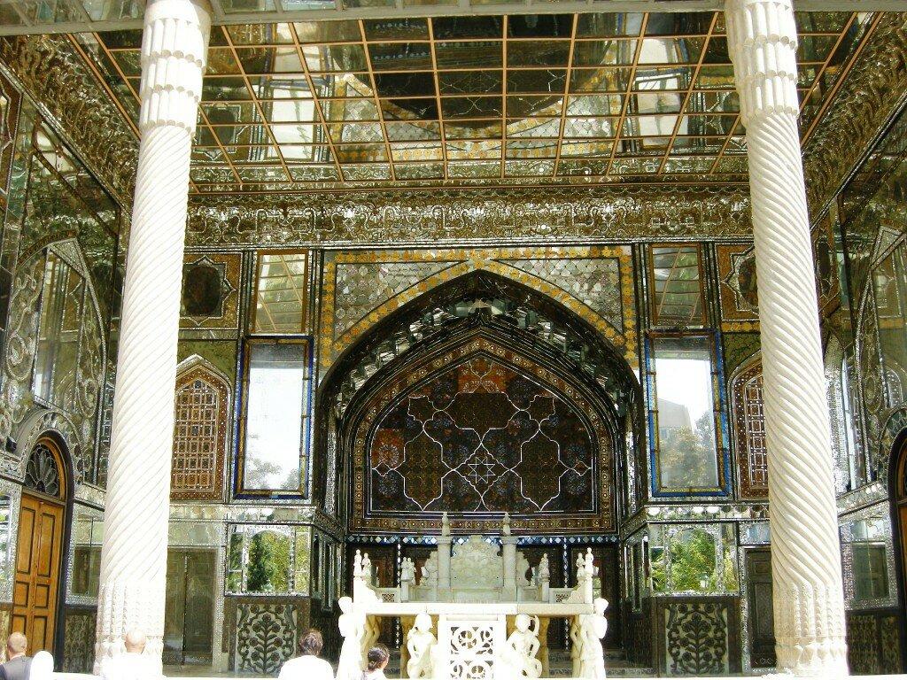 Golestan Palace - replika Pawiego Tronu